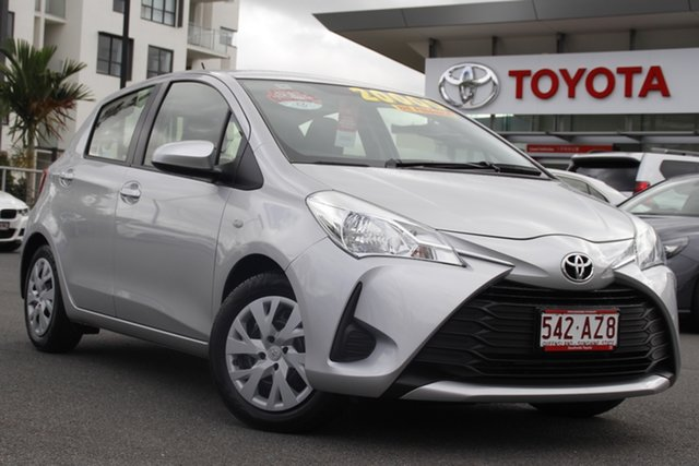 Pre-Owned Toyota Yaris NCP130R Ascent Upper Mount Gravatt, 2018 Toyota Yaris NCP130R Ascent Silver 4 Speed Automatic Hatchback