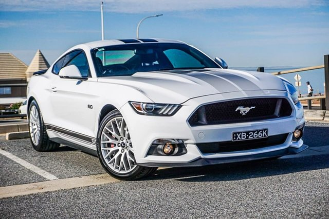 Used Ford Mustang FM 2017MY GT Fastback Christies Beach, 2016 Ford Mustang FM 2017MY GT Fastback White 6 Speed Manual Fastback