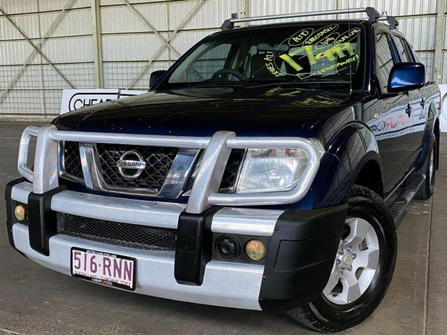 Used Nissan Navara D40 ST Rocklea, 2010 Nissan Navara D40 ST Blue 5 Speed Automatic Utility