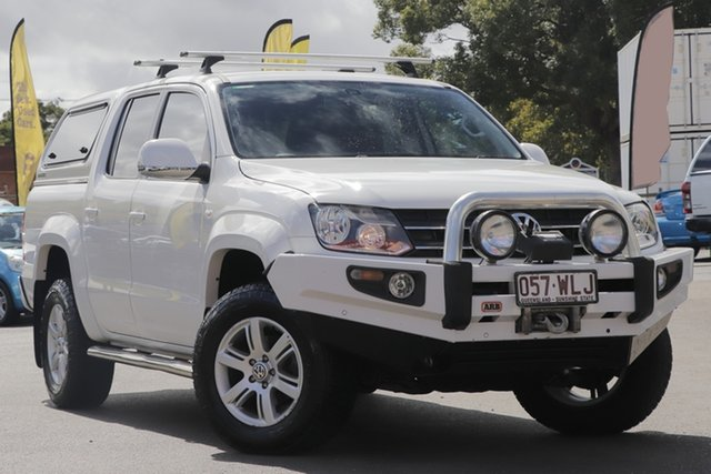 Used Volkswagen Amarok 2H MY14 TDI400 4Mot Highline Toowoomba, 2013 Volkswagen Amarok 2H MY14 TDI400 4Mot Highline White 6 Speed Manual Utility