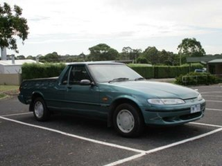1996 Ford Falcon GLI Longreach Green Manual Utility.