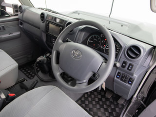 2020 Toyota Landcruiser VDJ79R GXL (4x4) Graphite 5 Speed Manual Double Cab Chassis