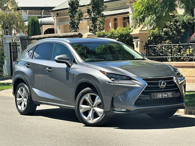 Used Lexus NX AGZ15R NX200t AWD Sports Luxury Hyde Park, 2015 Lexus NX AGZ15R NX200t AWD Sports Luxury Grey 6 Speed Sports Automatic Wagon