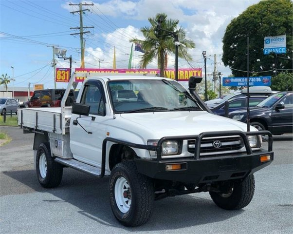 Used Toyota Hilux LN167R Archerfield, 1997 Toyota Hilux LN167R White 5 Speed Manual Cab Chassis
