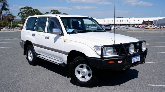 Used Toyota Landcruiser FZJ105R GXL Maddington, 2001 Toyota Landcruiser FZJ105R GXL White 4 Speed Automatic Wagon