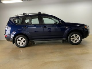 2010 Mitsubishi Outlander ZH MY10 LS Blue 6 Speed CVT Auto Sequential Wagon.