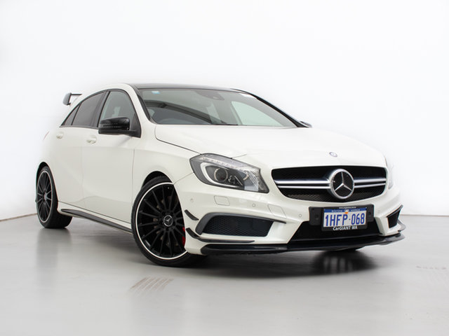 Used Mercedes-Benz A45 176 AMG, 2014 Mercedes-Benz A45 176 AMG White 7 Speed Auto Dual Clutch Hatchback