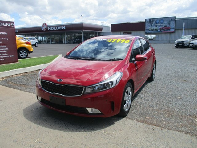 Used Kia Cerato YD MY17 S North Rockhampton, 2016 Kia Cerato YD MY17 S Red 6 Speed Manual Sedan