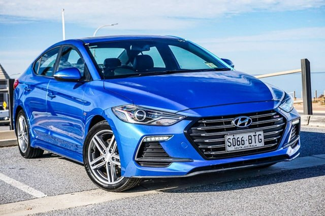 Used Hyundai Elantra AD MY17 SR DCT Turbo Christies Beach, 2017 Hyundai Elantra AD MY17 SR DCT Turbo Blue 7 Speed Sports Automatic Dual Clutch Sedan