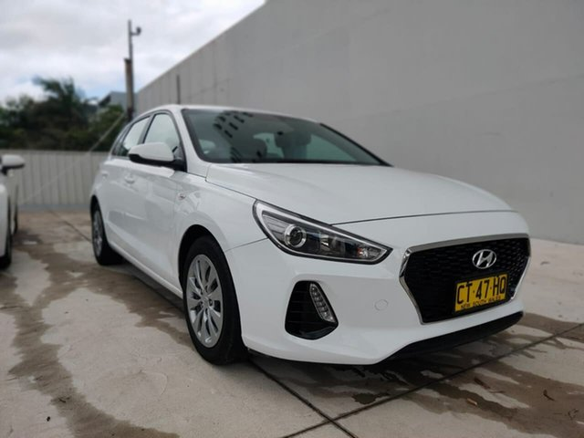 Used Hyundai i30 Go Goulburn, 2019 Hyundai i30 Go White Sports Automatic Hatchback