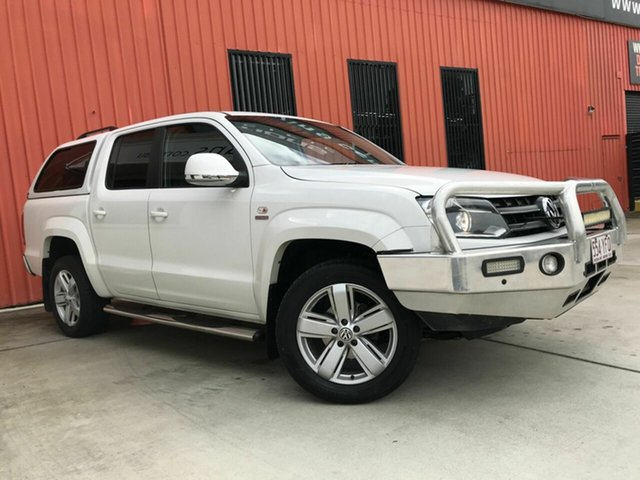 Used Volkswagen Amarok 2H MY12.5 TDI420 4Motion Perm Ultimate Molendinar, 2012 Volkswagen Amarok 2H MY12.5 TDI420 4Motion Perm Ultimate White 8 Speed Automatic Utility