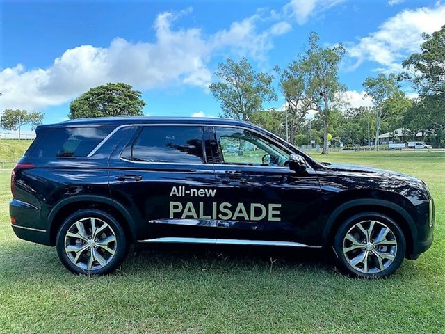 Demo Hyundai Palisade LX2.V1 MY21 Highlander AWD Mount Gravatt, 2020 Hyundai Palisade LX2.V1 MY21 Highlander AWD Moonlight Cloud 8 Speed Sports Automatic Wagon