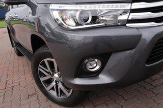 2017 Toyota Hilux GUN126R SR5 Double Cab Grey 6 Speed Sports Automatic Utility.