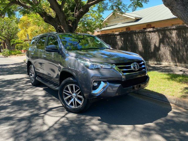 Pre-Owned Toyota Fortuner GUN156R Crusade Hawthorn, 2018 Toyota Fortuner GUN156R Crusade Grey 6 Speed Automatic Wagon