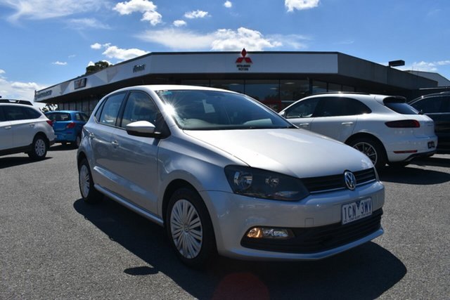 Used Volkswagen Polo 6R MY15 66TSI Trendline Wantirna South, 2014 Volkswagen Polo 6R MY15 66TSI Trendline Billet Silver 5 Speed Manual Hatchback