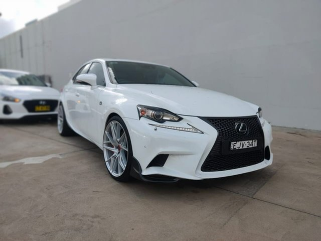 Used Lexus IS Goulburn, 2014 Lexus IS IS350 - F Sport White Sports Automatic Sedan