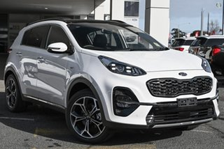 2020 Kia Sportage QL MY21 GT-Line AWD White 8 Speed Sports Automatic Wagon.