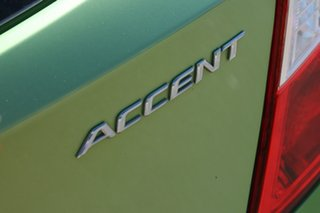2013 Hyundai Accent RB Active Apple Green 5 Speed Manual Hatchback
