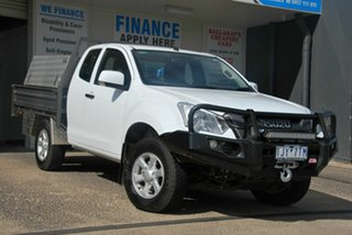 2018 Isuzu D-MAX TF MY17 SX (4x4) White 6 Speed Automatic Space Cab Chassis.