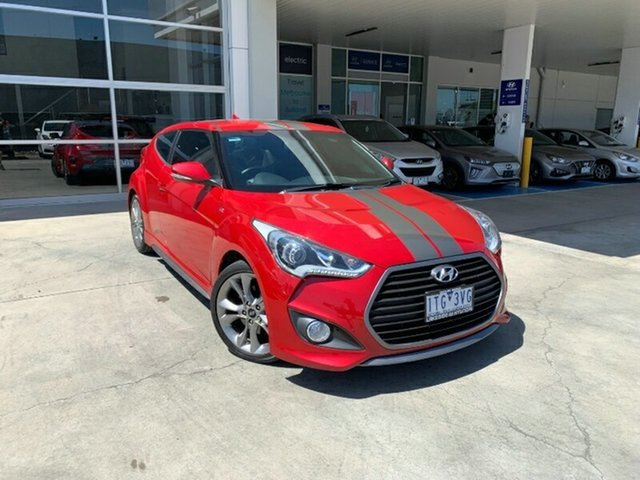 Used Hyundai Veloster FS4 Series II SR Coupe D-CT Turbo + Ravenhall, 2016 Hyundai Veloster FS4 Series II SR Coupe D-CT Turbo + Red 7 Speed Sports Automatic Dual Clutch