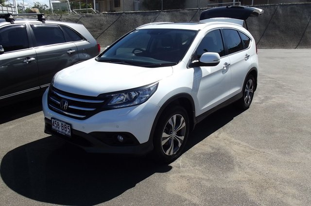 Used Honda CR-V RM MY15 VTi-L 4WD South Gladstone, 2014 Honda CR-V RM MY15 VTi-L 4WD White 5 Speed Sports Automatic Wagon