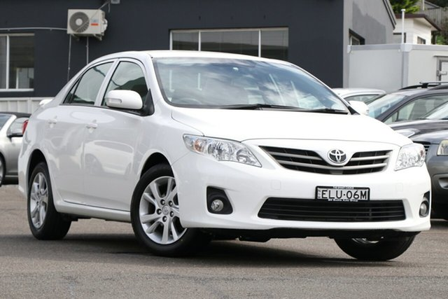 Pre-Owned Toyota Corolla ZRE152R MY11 Ascent Sport Brookvale, 2012 Toyota Corolla ZRE152R MY11 Ascent Sport White 4 Speed Automatic Sedan