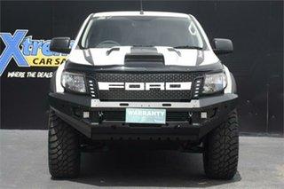 2012 Ford Ranger PX XL Hi-Rider White 6 Speed Manual Utility.