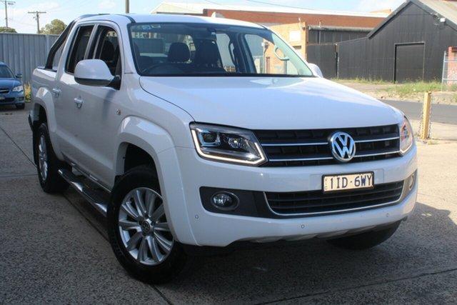 Used Volkswagen Amarok 2H MY16 TDI400 (4x4) West Footscray, 2016 Volkswagen Amarok 2H MY16 TDI400 (4x4) White 8 Speed Automatic Utility