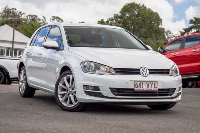 Used Volkswagen Golf VII MY15 110TDI DSG Highline Gympie, 2015 Volkswagen Golf VII MY15 110TDI DSG Highline White 6 Speed Sports Automatic Dual Clutch
