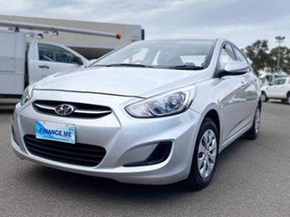 2015 Hyundai Accent RB3 MY16 Active Silver 6 Speed Constant Variable Sedan.