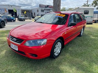2010 Ford Falcon BF Mk III XT Red 4 Speed Sports Automatic Wagon.