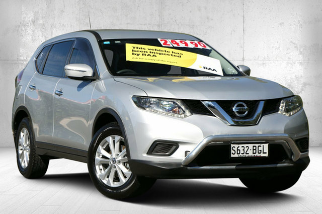 Used Nissan X-Trail T32 ST X-tronic 2WD Valley View, 2015 Nissan X-Trail T32 ST X-tronic 2WD Brilliant Silver 7 Speed Constant Variable Wagon