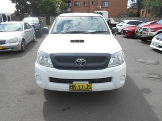 2011 Toyota Hilux KUN16R MY11 Upgrade SR White 5 Speed Manual Dual Cab Pick-up