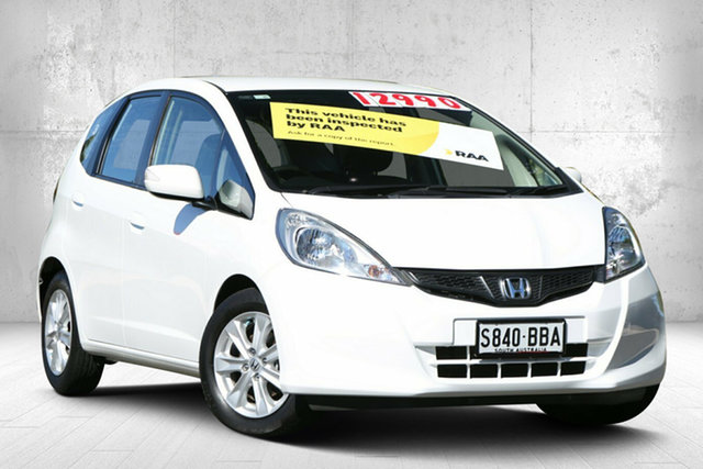 Used Honda Jazz GE MY12 Vibe Valley View, 2012 Honda Jazz GE MY12 Vibe Taffeta White 5 Speed Automatic Hatchback