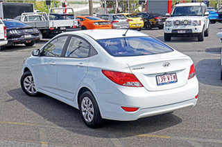 2015 Hyundai Accent RB2 MY15 Active White 4 Speed Sports Automatic Sedan.