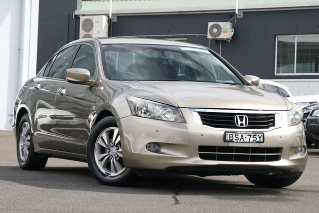 Pre-Owned Honda Accord 8th Gen MY10 VTi Brookvale, 2010 Honda Accord 8th Gen MY10 VTi Gold 5 Speed Sports Automatic Sedan