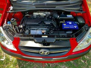 2009 Hyundai Getz TB MY09 S Hip Hop Red 4 Speed Automatic Hatchback