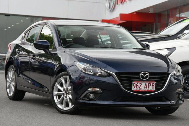 Pre-Owned Mazda 3 BM5238 SP25 SKYACTIV-Drive Woolloongabba, 2014 Mazda 3 BM5238 SP25 SKYACTIV-Drive Blue 6 Speed Sports Automatic Sedan