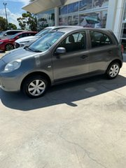 2013 Nissan Micra K13 MY13 ST Grey 4 Speed Automatic Hatchback