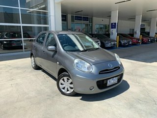2013 Nissan Micra K13 MY13 ST Grey 4 Speed Automatic Hatchback.
