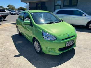 2014 Mitsubishi Mirage LA MY15 ES Green 1 Speed Constant Variable Hatchback.