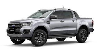 2021 Ford Ranger PX MkIII 2021.25MY Wildtrak Aluminium Silver 10 Speed Sports Automatic.