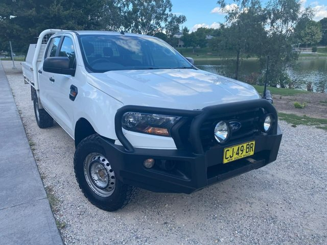 Used Ford Ranger PX MkII XL Wodonga, 2016 Ford Ranger PX MkII XL White 6 Speed Sports Automatic Cab Chassis