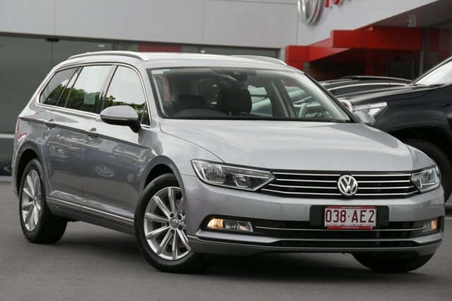 Pre-Owned Volkswagen Passat 3C (B8) MY18 132TSI DSG Comfortline Woolloongabba, 2018 Volkswagen Passat 3C (B8) MY18 132TSI DSG Comfortline Silver 7 Speed