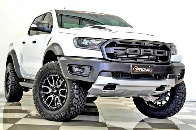 Used Ford Ranger PX MkIII MY19 Raptor 2.0 (4x4) Burleigh Heads, 2018 Ford Ranger PX MkIII MY19 Raptor 2.0 (4x4) White 10 Speed Automatic Double Cab Pick Up