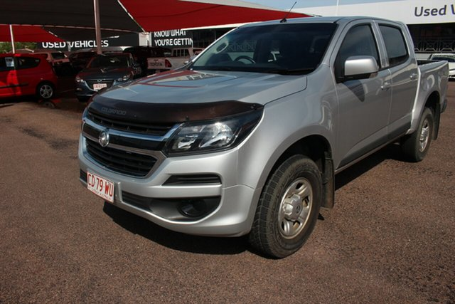 Pre-Owned Holden Colorado RG MY19 LS Pickup Crew Cab Darwin, 2019 Holden Colorado RG MY19 LS Pickup Crew Cab Silver 6 Speed Sports Automatic Utility