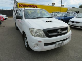 2008 Toyota Hilux KUN16R 07 Upgrade SR White 5 Speed Manual Dual Cab Pick-up.