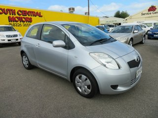 2008 Toyota Yaris NCP90R 08 Upgrade YR Silver 5 Speed Manual Hatchback.