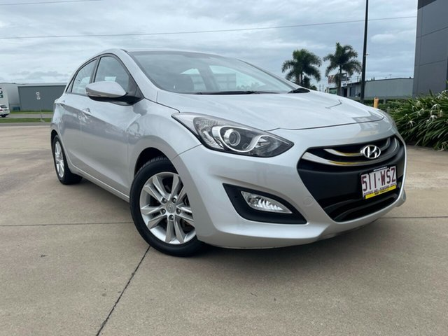 Used Hyundai i30 GD2 MY14 Trophy Townsville, 2014 Hyundai i30 GD2 MY14 Trophy Silver 6 Speed Manual Hatchback