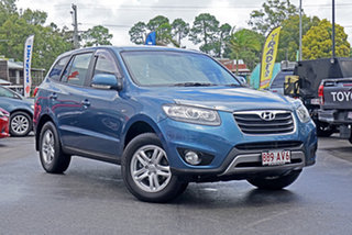 2011 Hyundai Santa Fe CM MY11 SLX Blue 6 Speed Sports Automatic Wagon.